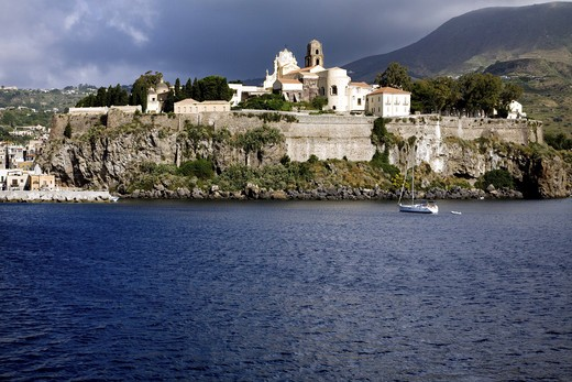 Stock Photo: 4261-86014 The citadel, Lipari Island, Aeolian Islands, Sicily, Italy