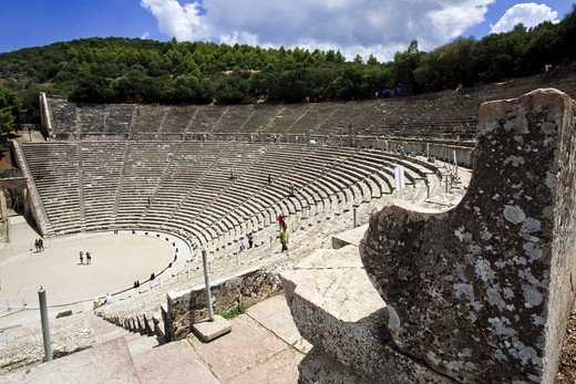 Stock Photo: 4261-86180 Sanctuary of Asklepios at Epidaurus, Epidaurus, Greece, Europe