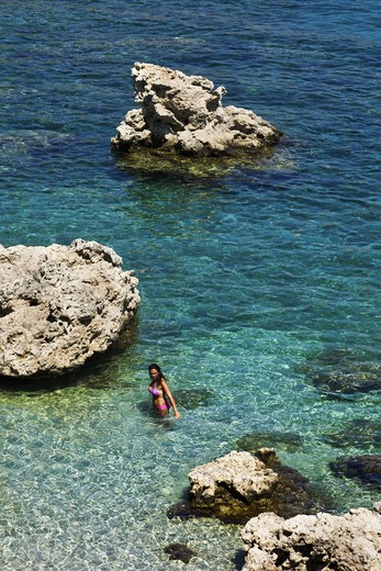 Stock Photo: 4261-86184 Ladiko or Anthony Quinn Bay, Rhodes, Dodecanese, Greek Islands, Greece, Europe