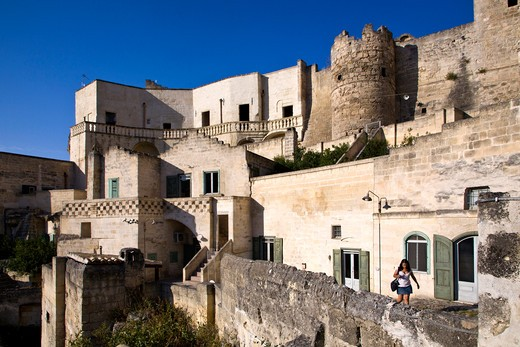 Sassi of Matera, Old Town, Matera, Basilicata, Italy : Stock Photo