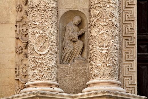 Stock Photo: 4261-86418 Chiesa di Santa Croce church, lecce, Apulia, Italy, Europe