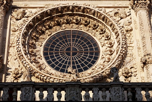 Stock Photo: 4261-86423 Detail, Chiesa di Santa Croce church, lecce, Apulia, Italy, Europe