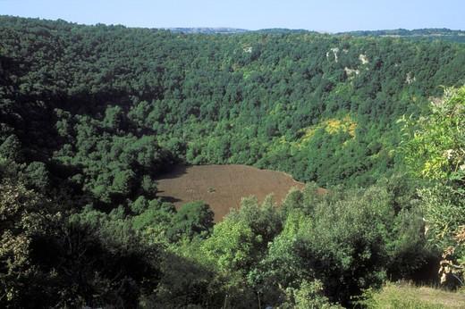 Dolina Pozzatina, national park of Gargano, Foggia, Puglia, Italy. : Stock Photo