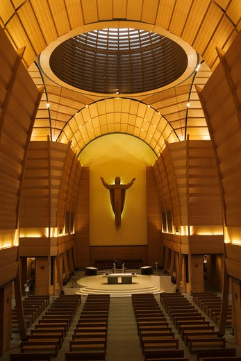 Stock Photo: 4261-87164 The Risen Christ statue, Upper Church, San Giovanni Bosco sanctuary, Castelnuovo Don Bosco, Piedmont, Italy