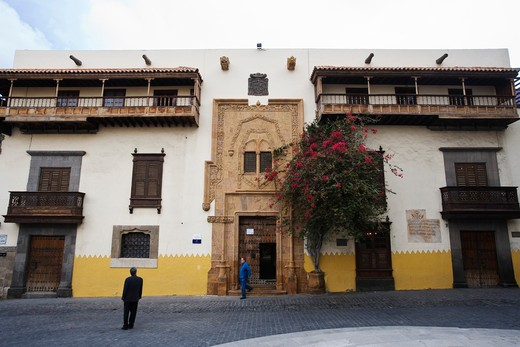 Stock Photo: 4261-87432 Casa Colon, the House of Christopher Columbus in Plaza del Pilar Nuevo, old town, Las Palmas, Gran Canaria, Canary Isalnds, Spain, Europe