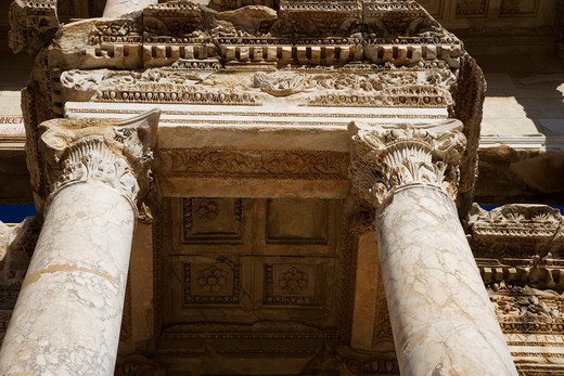 The Library of Celsus, Ephesus, Kusadasi, Turkey, Europe : Stock Photo