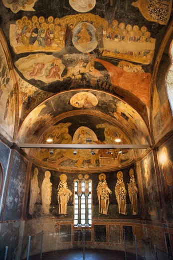 Stock Photo: 4261-87832 Parecclesion apse, Kariye Museum, Istanbul, Turkey, Europe