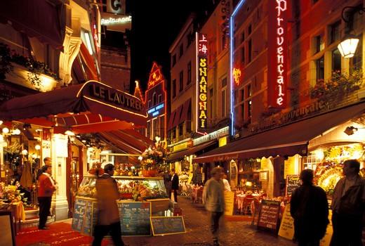Rue de Broucher, Brussels, Belgium, Europe : Stock Photo