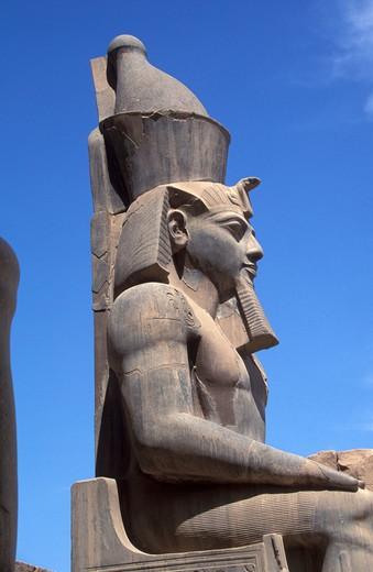 Stock Photo: 4261-90406 Nefertari statue, Luxor temple, Egypt, North Africa, Africa