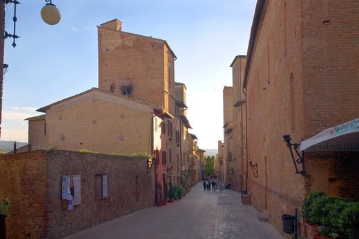 Foreshortening, Certaldo, Tuscany, Italy : Stock Photo