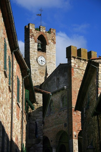 Stock Photo: 4261-91685 Town hall, Suvereto, Tuscany, Italy