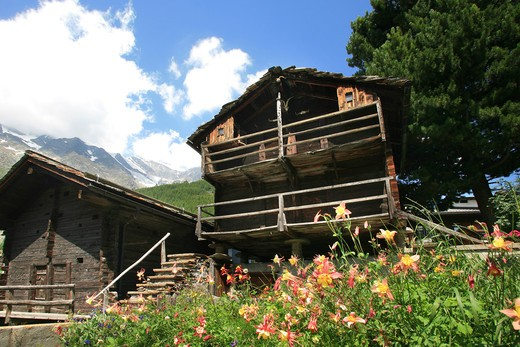 Stock Photo: 4261-91868 Foreshortening, Saas-Fee, Vallese, Switzerland, Europe