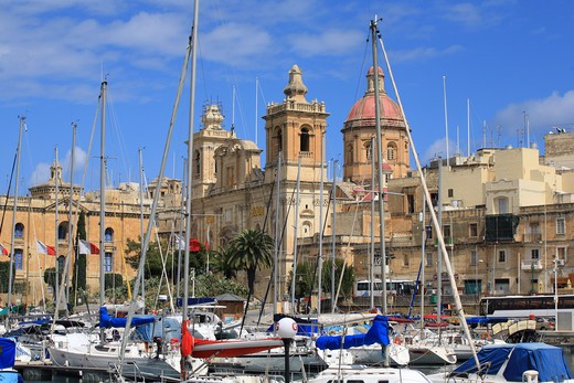 Stock Photo: 4261-92042 Senglea port, La Valletta, Malta Island