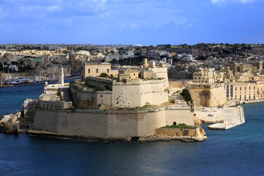 Stock Photo: 4261-92051 Vittoriosa Fort, La Valletta, Malta Island