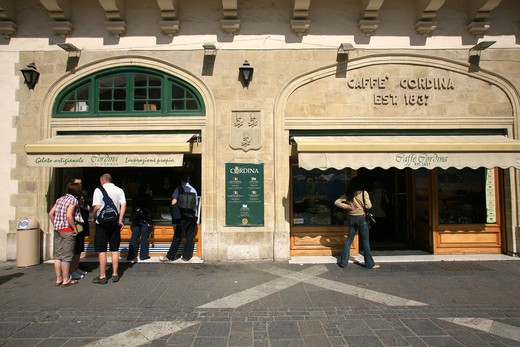 Cordina café, La Valletta city, Malta Island : Stock Photo