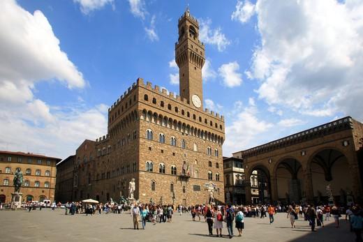 Stock Photo: 4261-92238 Palazzo Vecchio, Florence, Tuscany, Italy