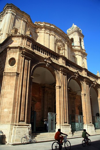 Cathedral, Trapani, Sicily, Italy : Stock Photo