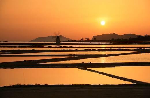 Saltworks, Marsala, Sicily, Italy : Stock Photo