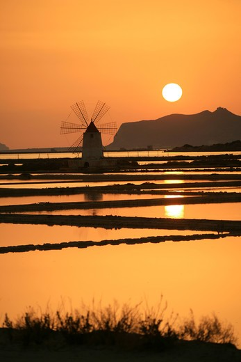 Stock Photo: 4261-92321 Saltworks, Marsala, Sicily, Italy