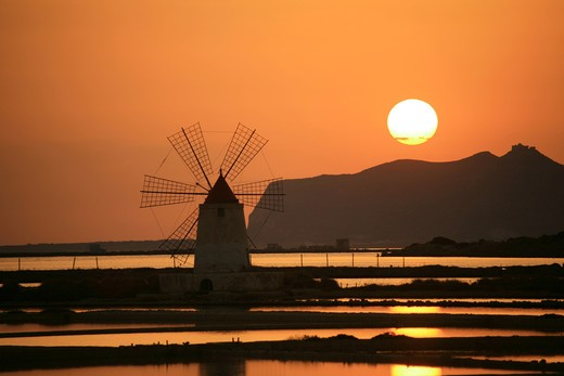 Stock Photo: 4261-92322 Saltworks, Marsala, Sicily, Italy