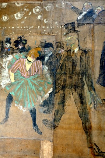 Stock Photo: 4261-9259 Moulin Rouge, Henri de Toulouse-Lautrec, Musée d'Orsay, Paris, Île-de-France, France, Europe