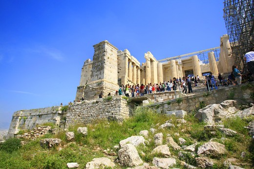 Acropolis, Athens, Greece, Europe, UNESCO World Heritage Site : Stock Photo