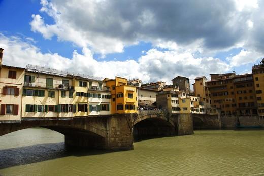 Ponte Vecchio bridge, Florence, Tusacany, Italy, Europe, UNESCO World Heritage Site : Stock Photo