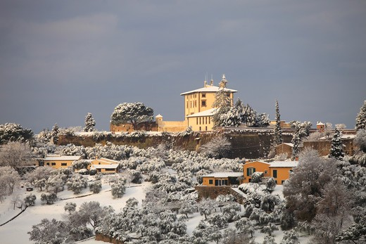 Snow in Florence, Belvedere fort,  Tuscany, Italy, Europe : Stock Photo