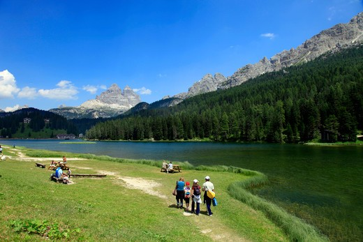 Italy, Veneto, Misurina lake : Stock Photo