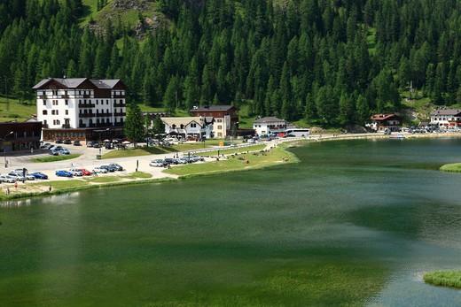 Stock Photo: 4261-93239 Italy, Veneto,Misurina lake
