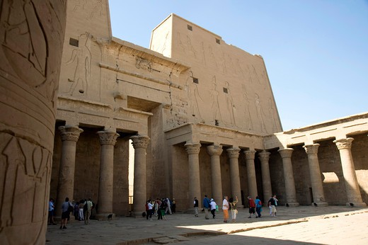 Temple of Horus. Edfu, Egypt, North Africa, Africa : Stock Photo