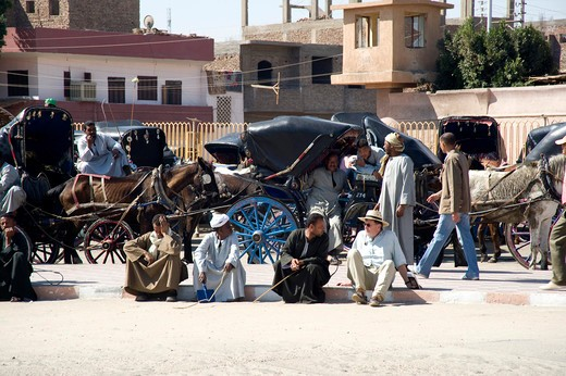 Daily life, Edfu, Egypt, North Africa, Africa : Stock Photo