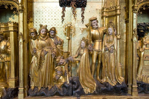 Retable des Saints et Martyrs, Jacques de Baerze, Melchior Broederlam, Fine arts Museum, Place de la Libération, Palais des Ducs et Etats, Dijon, Bourgogne, France, Europe : Stock Photo