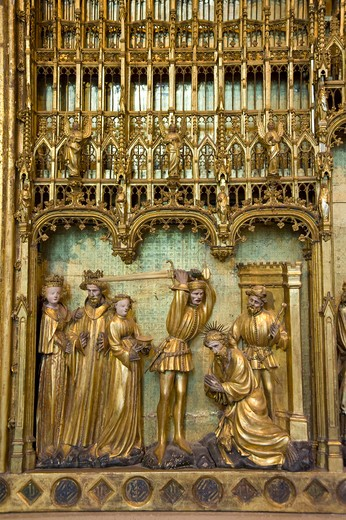 Stock Photo: 4261-94045 Retable des Saints et Martyrs, Jacques de Baerze, Melchior Broederlam, Fine arts Museum, Place de la Libération, Palais des Ducs et Etats, Dijon, Bourgogne, France, Europe
