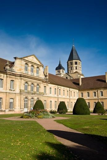 Stock Photo: 4261-94088 The Benedectine Abbey, Cluny, Bourgogne, Burgundy, France, Europe