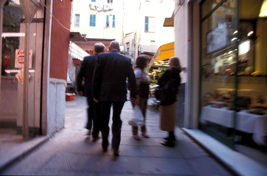 People in the old city, Genoa, Liguria, Italy : Stock Photo