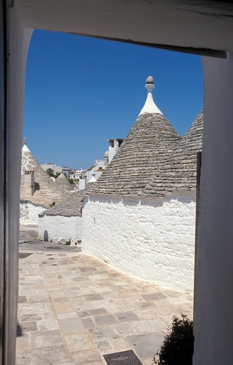 Stock Photo: 4261-95174 View from trulli, Alberobello, Puglia, Italy