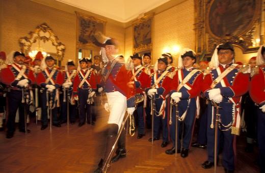 Parade in the city hall, Ivrea, Piemonte, Italy : Stock Photo