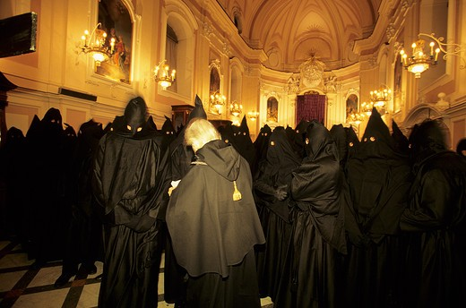 Stock Photo: 4261-95512 The Good Friday procession, San Francesco cloister, Sorrento, Campania, Italy