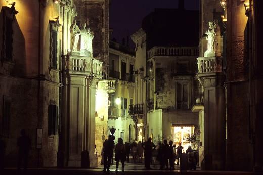 Vittorio Emanuele II street, Lecce, Puglia, Italy : Stock Photo
