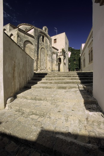 The byzantine church of San Pietro, Otranto, Salento, Puglia, Italy : Stock Photo