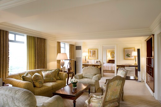Stock Photo: 4261-96234 USA, New York, N.Y., Manhattan - Hotel Ritz-Carlton - 50 Central Park South - www.ritzcarlton.com - this is the largest suite, home of most american presidents when in new york