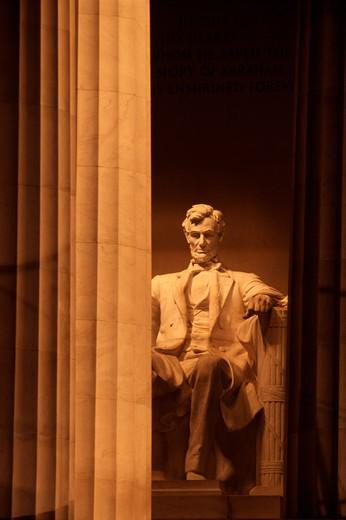 Stock Photo: 4261-96536 Lincoln Memorial, Washington DC, USA, United States, America, North America