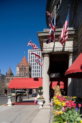 The Fairmont Copley Plaza Hotel in Copley Square in the Back Bay area, Boston, Ma, USA  : Stock Photo