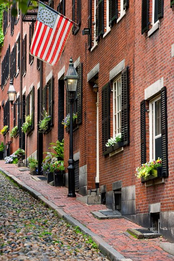 Stock Photo: 4261-96742  Beacon Hill area, Boston, Ma, USA