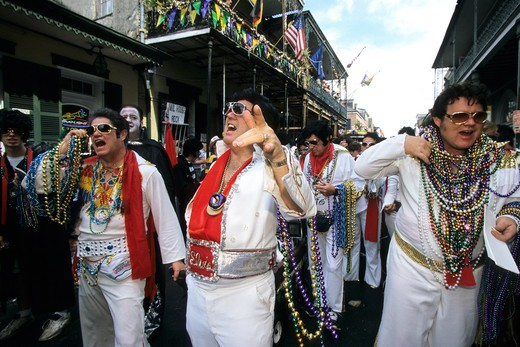 Stock Photo: 4261-96945 Elvis Parade, Fat Tuesday feast, New Orleans, Lousiana, United States of America, North America