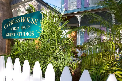 Cypress House, Key West, Florida, United States of America, North America  : Stock Photo