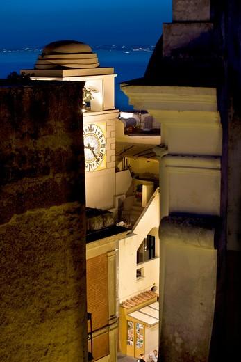 Architecture, Capri island, Gulf of Naples, Campania, Italy : Stock Photo