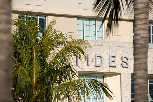 USA, florida, miami, miami beach, SoBe, the Tides hotel 1220 Ocean Drive : Stock Photo