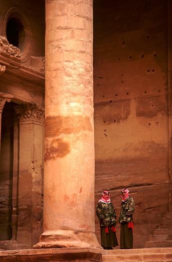 Petra, Jordan, Middle East : Stock Photo